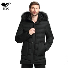 Winter Men's Cotton Padded Jackets Men's Parkas Anorak Warm Male Overcoat Long Trench Coat Men Tactical Jacket Fur Collar Hooded