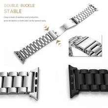 Stainless Steel Watch Bands for Apple 38mm 42mm Link Bracelet Strap Fashion For iwatch Wholesales Butterfly Clasp