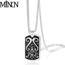 MINCN necklace Man Jewelry Crown shield pendant hip hop punk accessories