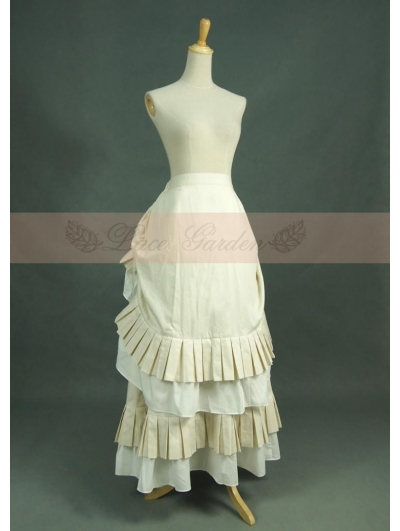 Ivory Cotton Vintage Victorian Skirt