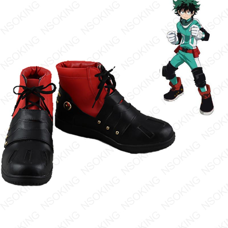 Anime My Hero Academia Boku no Hero Akademia Izuku Midoriya Cosplay Shoes Anime Boots