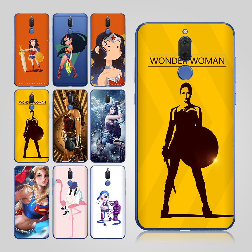 Wonder Woman чехол для huawei Коврики 10 Lite P Smart Case для huawei P10 lite P8 lite P9 lite P10 p9 NOVA 2 Коврики 9 Коврики 10 Pro Coque