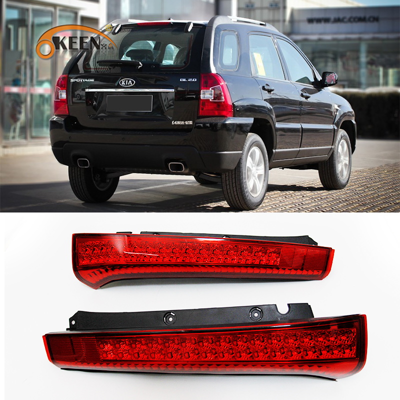 Okeen car stying  2 pcs 12V Rear Bumper Reflector Light t Warning Light for KIA Sportage 2008-2012  tail brake stop light