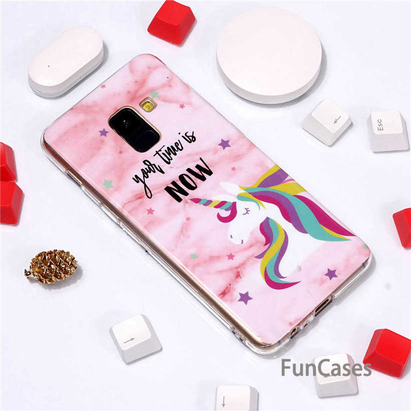 Case For Samsung A8 A6 Plus 2018 Case For Samsung A5 A3 2017 Soft Case Luxury Marble Flower Letter Silicone Back Cover sammsung