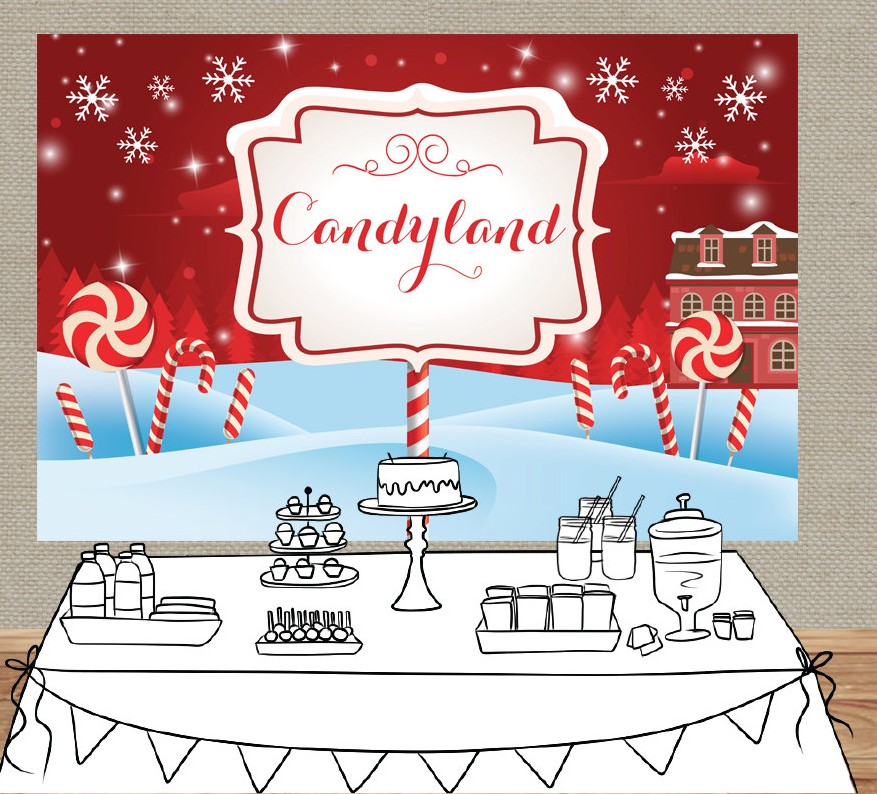 Christmas Candyland Backdrop.Us 20 9 5 Off Candy Land Winter Cottage Snowflake Photo Studio Background Vinyl Cloth High Quality Computer Print Christmas Backdrops In Background