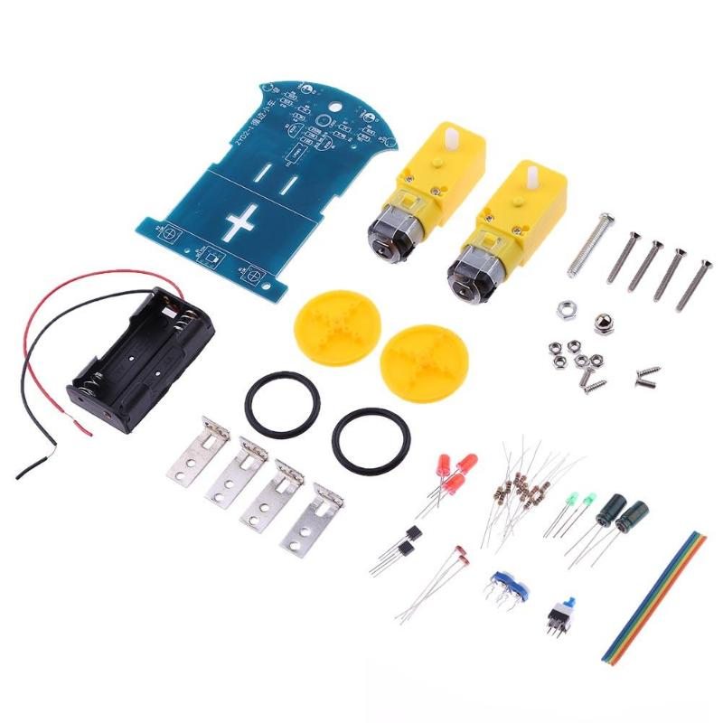 Funny Child DIY Kit Intelligent Tracking Line Smart Car Kit TT Motor Electronic Smart Patrol Automobile Car Toys Kids Gifts