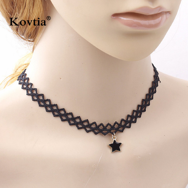 2017 Choker Necklace New Design Clavicle Necklace Star Pendant Jewelry Stort Necklace For Women Collar Necklace N3104