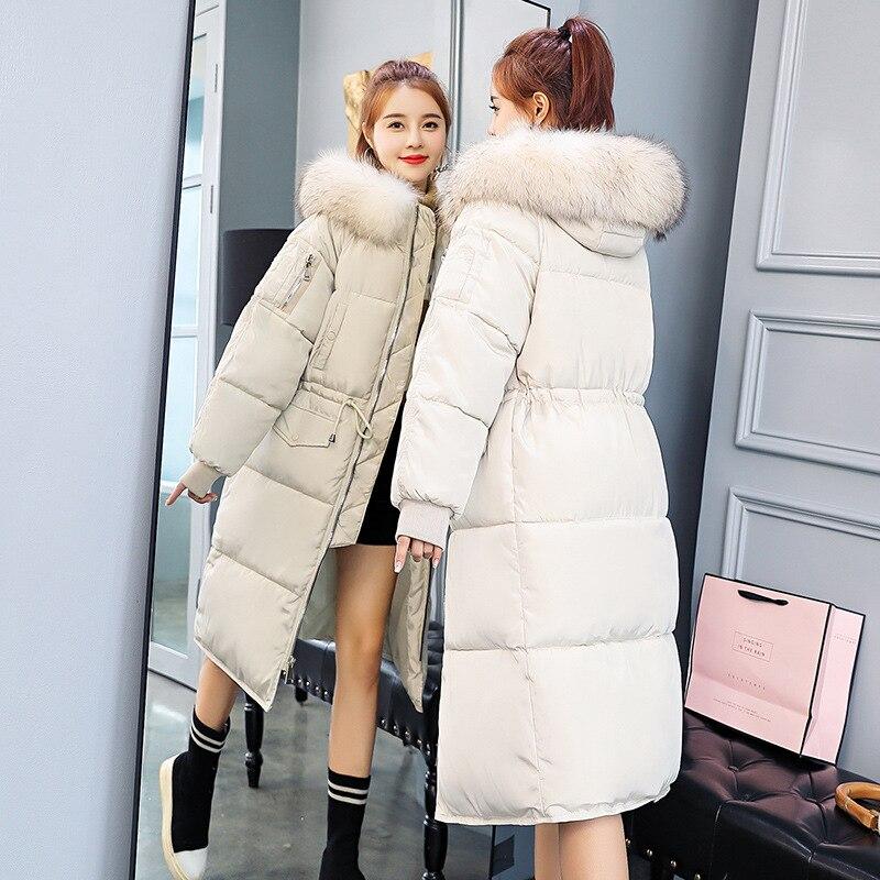 Winter Warm New Long coats   parkas   Women Detachable large fur collar female Slim down Jacket women   Parkas   cotton jacket