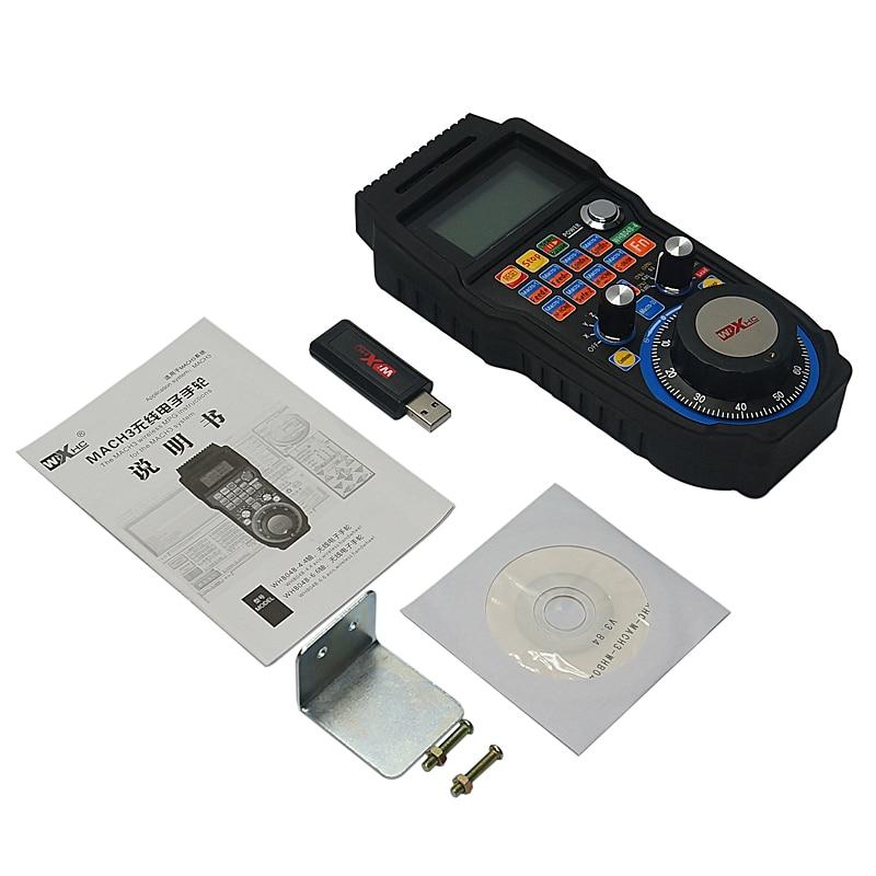 Sans fil USB MACH3 MPG WHB04B-4 433 MHZ volant électronique 4 axes CNC Mach3 volant pour routeur Machine