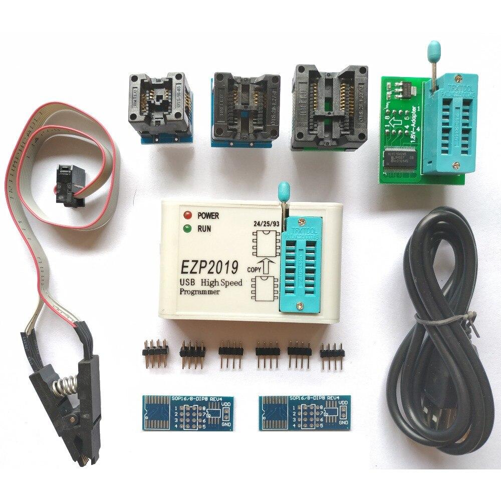 Ezp2019 + alta velocidade usb spi programador suporte 24 25 93 eeprom flash bios chips podem ser adicionados por si mesmo (24 séries eeprom, 25 séries spi flash, 93 séries eeprom, 25 séries eeprom)