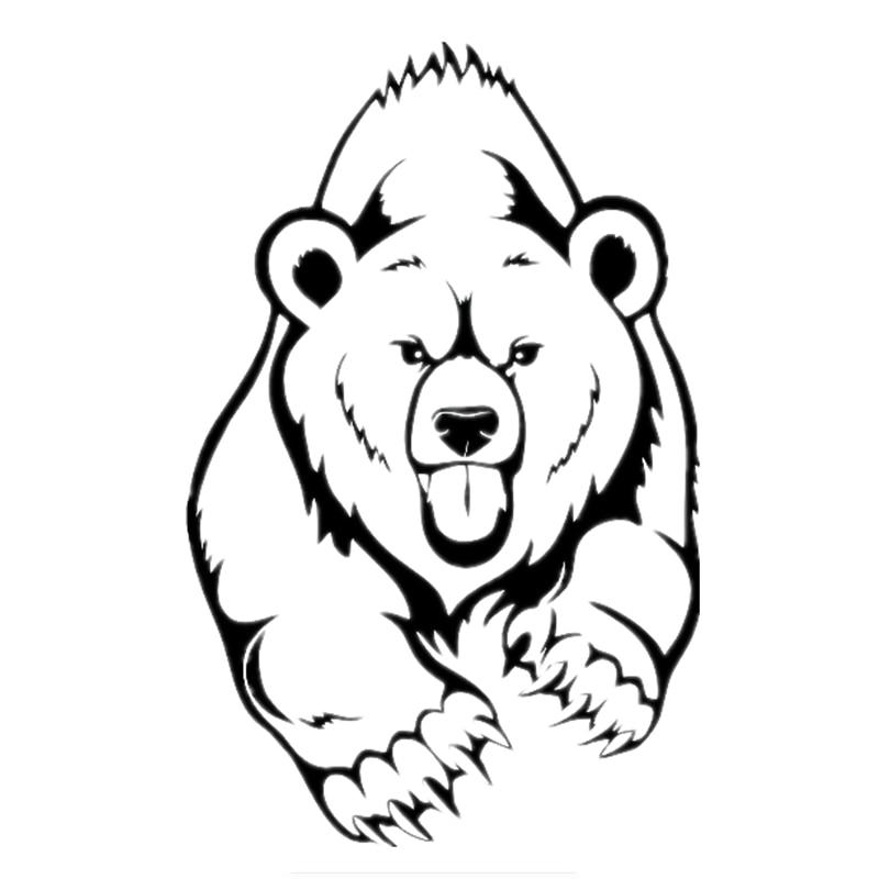 Три Ratels ТЗ-393 19.1*30см 12.8*20см 1-5 штук бурый Медведь наклейка стикер автомобиля стены ноутбук наклейки