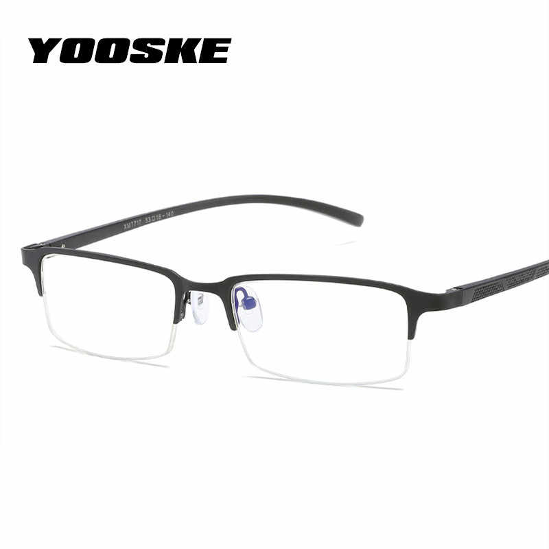 c0199aad8e YOOSKE Blue Light Filter Glasses Frame Men Gaming Computer Eyeglasses Male Business  Optical Eyewear Mens Spectacle