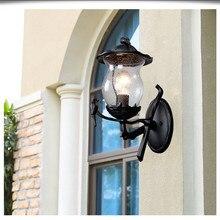 HAWBERRY American Simple Outdoor Wall Lamp Waterproof Garden European Vintage Balcony Light Mount Creative Bird