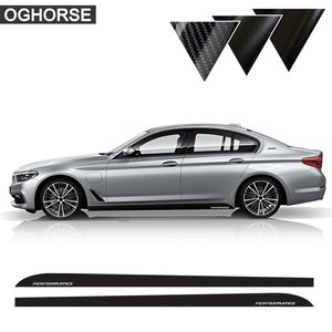 2 pcs Car Styling 2016 New M Performance Sport Sill Side Skirt Stripes Vinyl Decal Car Sticker For BMW 5 Series G30 Accessories