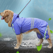Reflective Dog Raincoat Jacket Lightweight Waterproof Rain Coat for Small Medium Large Dogs Soft Breathable Pet Rainwear Clothes