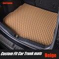 ZHAOYANHUA kofferraum matten für Volkswagen CC Eos Golf Jetta Passat Tiguan Touareg sharan 5D auto styling teppichboden liner auf