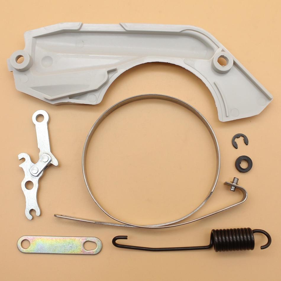 Комплект пружинной крышки тормозной ленты для STIHL MS180 MS170 018 017 MS 180 170, запасные части для бензопилы 11300211100/11231605400