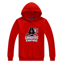 2017 Canadiens Empire  Star Wars Darth Vader Men Sweashirt Women Montreal warm hoodies 0105-2