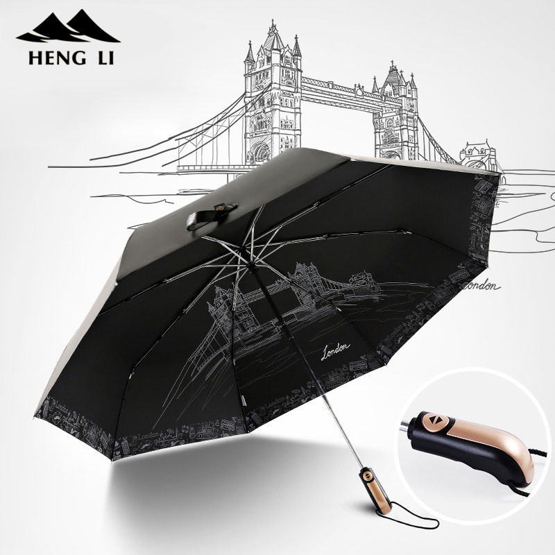 122cm Folding Large Golf Automatic Umbrella For Men Windproof Automatic Folding And Opening Umbrella Rain Women For Gift 8 Ribs