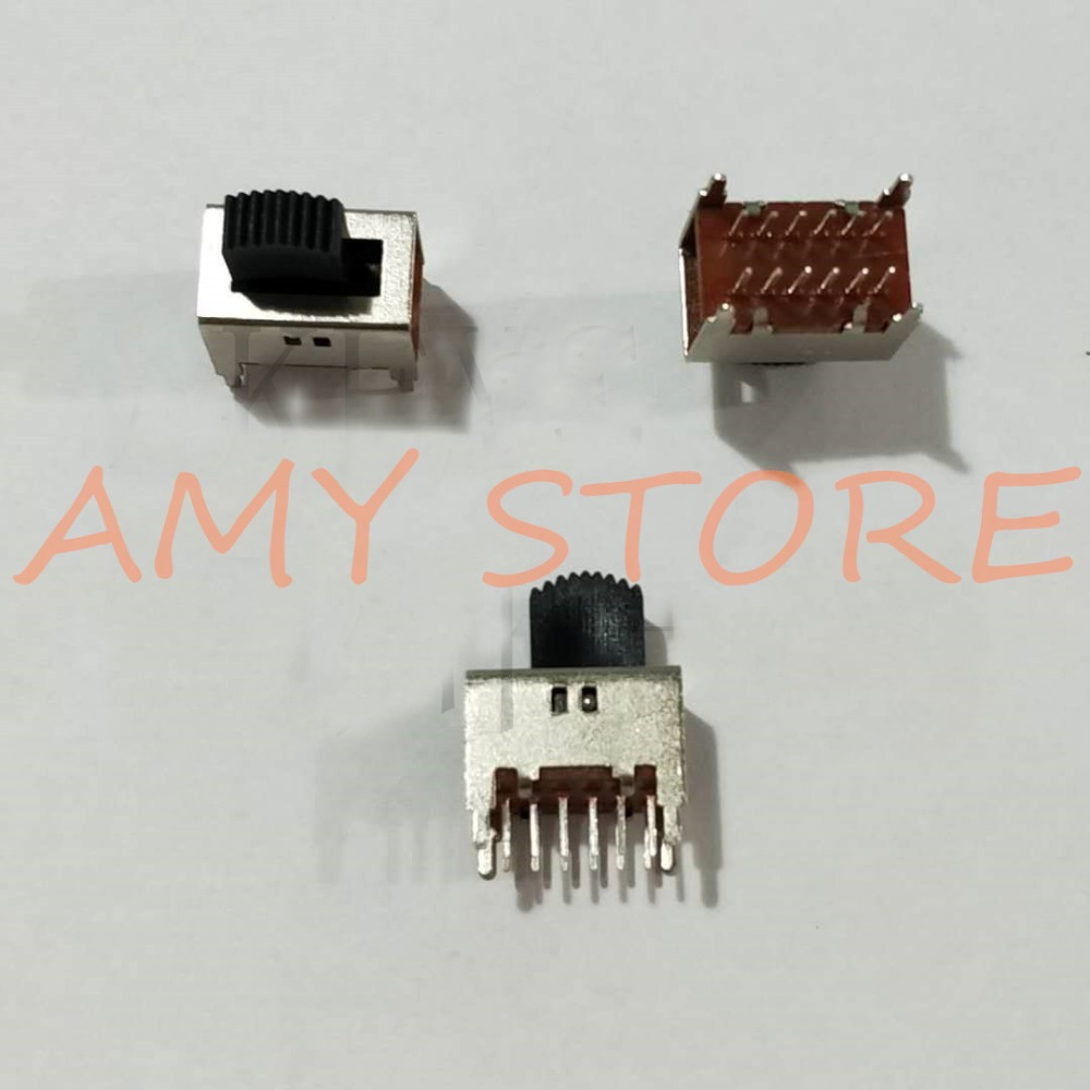 5pcs SS-42D01 4P2T Toggle Slide DIP Switch 2 Positions 12 Pins Vertical Insert with 4 Fixed feet without Ears image