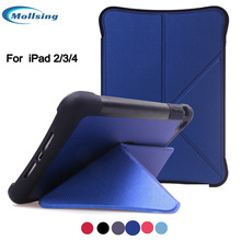 Mollsing Case for iPad 2 3 4,Support Auto Sleep/Wake Smart stand Sucker Cover Case for apple iPad 2/3/4(China)