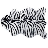Zebra Tiger Leopard Stripe Hairy Carpet Imitation Wool Sheepskin Chair Seat Pad Super Soft Shaggy Plush