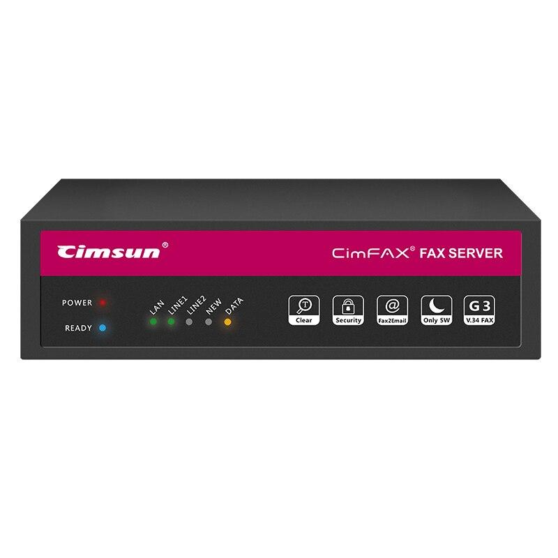 CimFAX H5 Fax serveur Fax à partir de l'ordinateur bureau Fax à partir de l'application Mobile 100 utilisateurs haute vitesse Fax Modem sans papier Via la ligne téléphonique