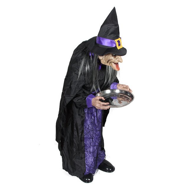 Scary Prop Housekeeper Witch Halloween Party Accessories Door Living Room Ornament Halloween Creepy Ghost Horror Halloween Props