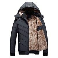 الشتاء سترة الرجال 2017 جديد أزياء الرجال عارضة سترة مقنعين معطف مبطن الرجال سميكة الدافئة ستر أبلى السترات ماركة الملابس