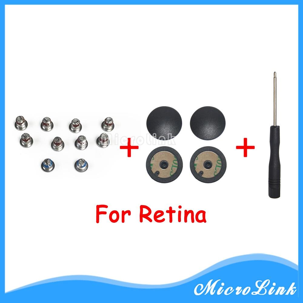 100% Nieuwe Voor Macbook Pro Retina 13 ''a1502 A1425 A1398 Bottom Case Foot Voeten + Schroef Set 4 Stks/set