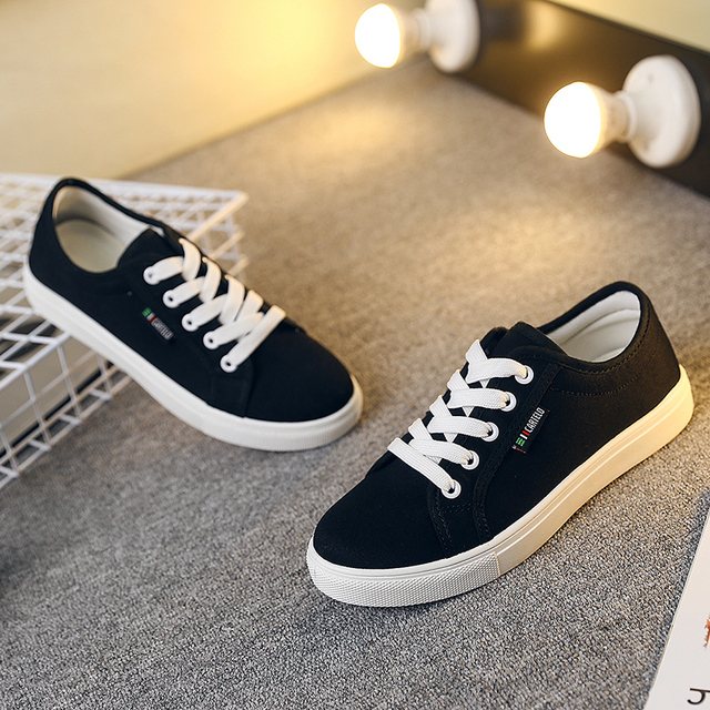 Hot Sale Spring Summer 2016 Breathble Comfortable Canvas Shoes  Lace up White Shoes for Women Women Casual Shoes