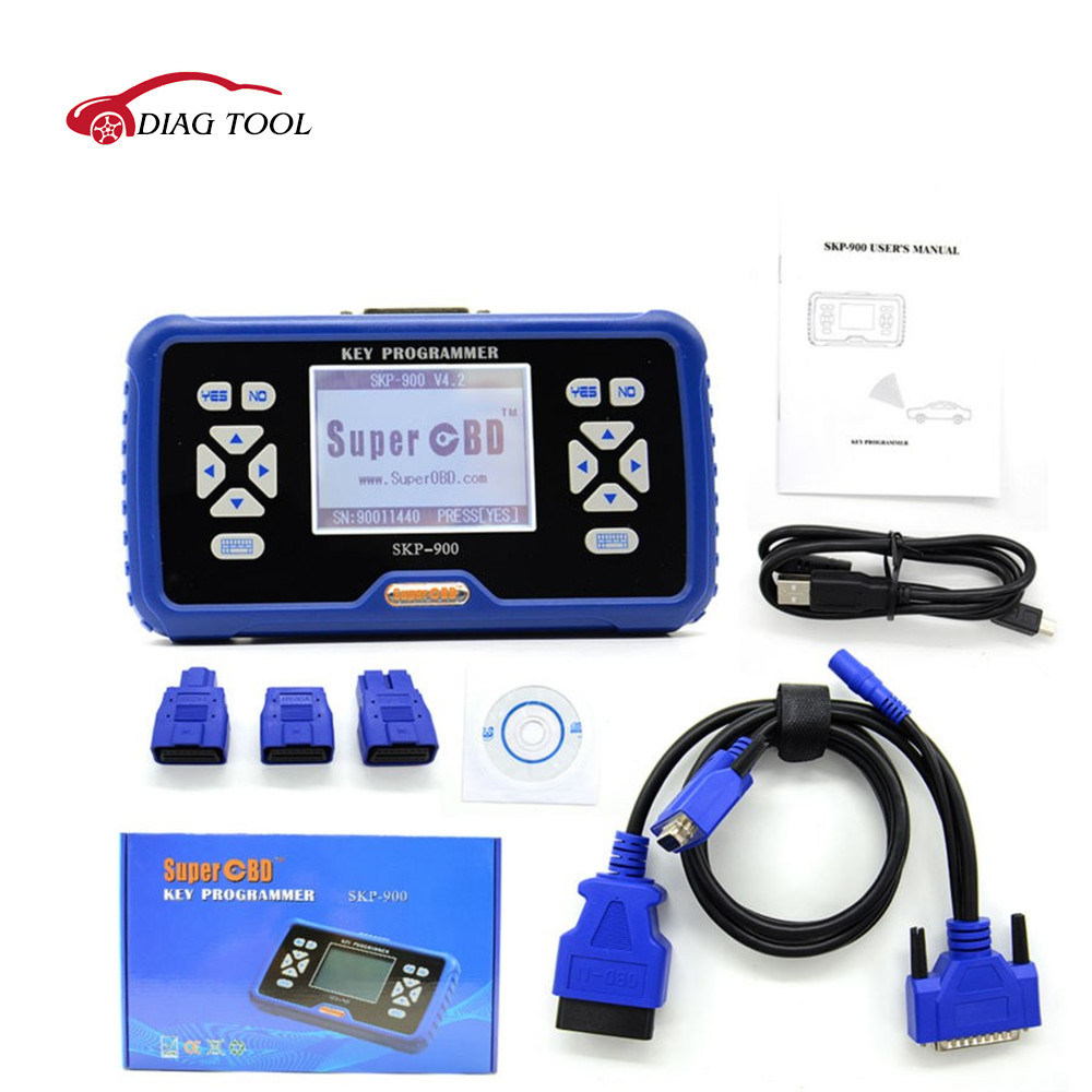 wholesale v4.2 Original SuperOBD SKP900 SKP-900 OBD auto key programmer Life-time Free Update Online Support Almost All Cars