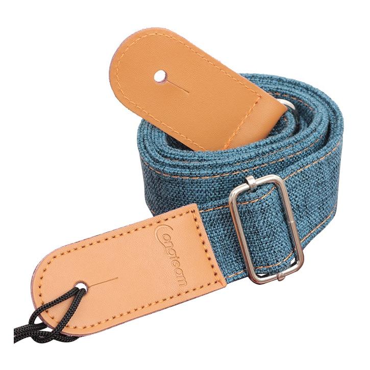 Longteam ремень около 75 см-130 см ширина около 3.9 см хлопок и лен + кожа uukiri плеча ремень с хвост ногтей синий