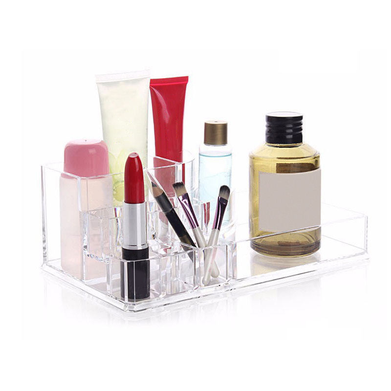 Transparent Fashion Jewelry Storage Box Tool Makeup Cosmetic Desktop Case Home Organizer Accessories Supplies Gear Items Product