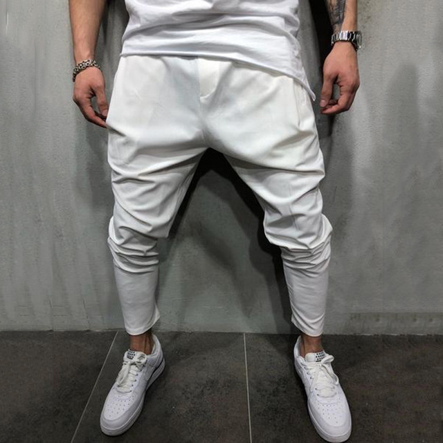Men's Joggers Pants Streetwear Hip Hop Trousers Casual Harem Pants Male Loose Slim Fitness Soft Plain Narrow Leg Opening Clothes 3