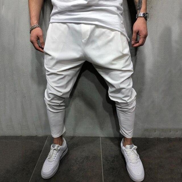 Men's Joggers Pants Streetwear Hip Hop Trousers Casual Harem Pants Male Loose Slim Fitness Soft Plain Narrow Leg Opening Clothes 3