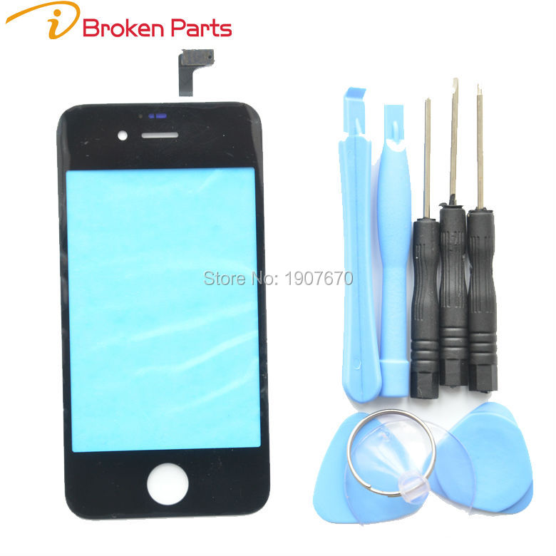 New Front Glass Lens Touch Screen Digitizer For iPhone 6 plus 5S 5 4S 4G Touch Screen Panel Replacement+Tools Black White