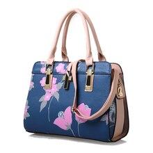 Nueva llegada impresión de la flor de Las Mujeres Bolso de Cuero de LA PU Bolso de la alta calidad famosa marca de Hombro Bolsas de Asas señora hobos bolsa feminina