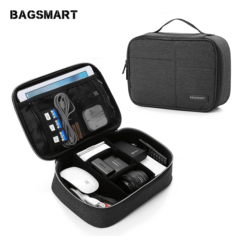 df7358a5db06 Comprar Bagsmart accesorios de viaje de poliéster impermeable bolsa de gran  capacidad de diseño de moda accesorios de viaje eléctrico bolsas Online  Baratos .