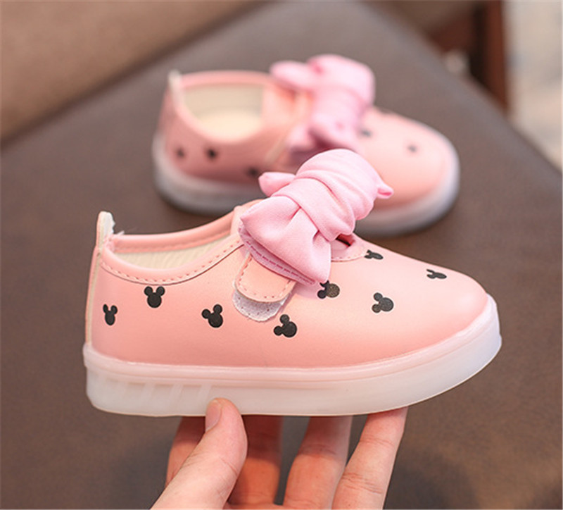 kids girls shoes with light (3)