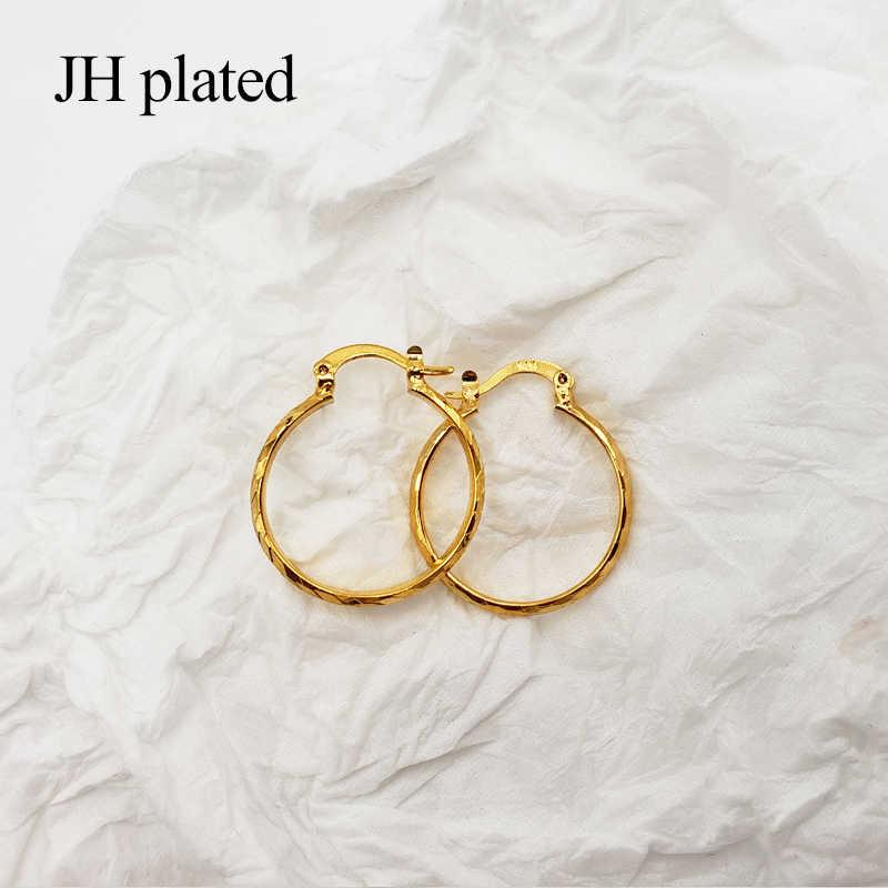 JHplated العربية الأزياء 24 K هوب أقراط للنساء/الفتيات الذهب اللون مجوهرات الشرق الأوسط أفريقيا الاثيوبية أفضل الهدايا حزب