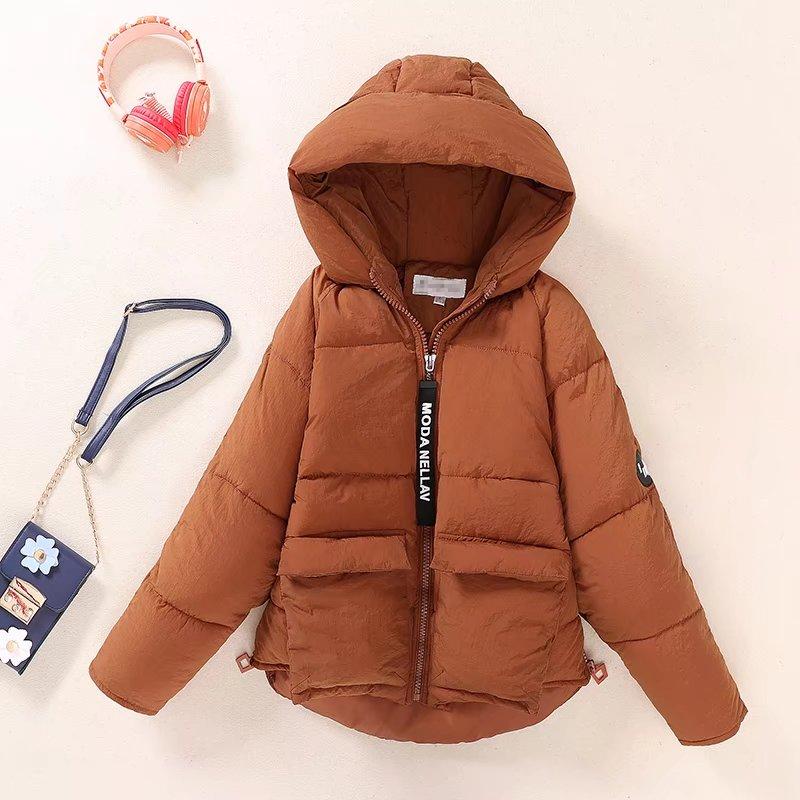 solid black winter down shoulder sleeve women thick coat 2017 Fashion Zippers jackets pockets hoodies ladies warm parka female цены онлайн