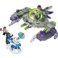 230 sztuk Przestrzeń UFO Alien Kosmicznym Oprzeć Montowane Klocki Zabawki Plastikowe Zabawki Space Shuttle Dzieci Woods K0184-1608