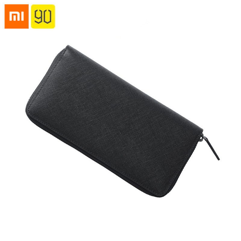 Original Xiaomi 90Fun Simple Business Leather Long Wallet Full Griand Soft Purse Bag Man Stylish Cowhide Money Cards Pocket-in Bags from Consumer Electronics    1