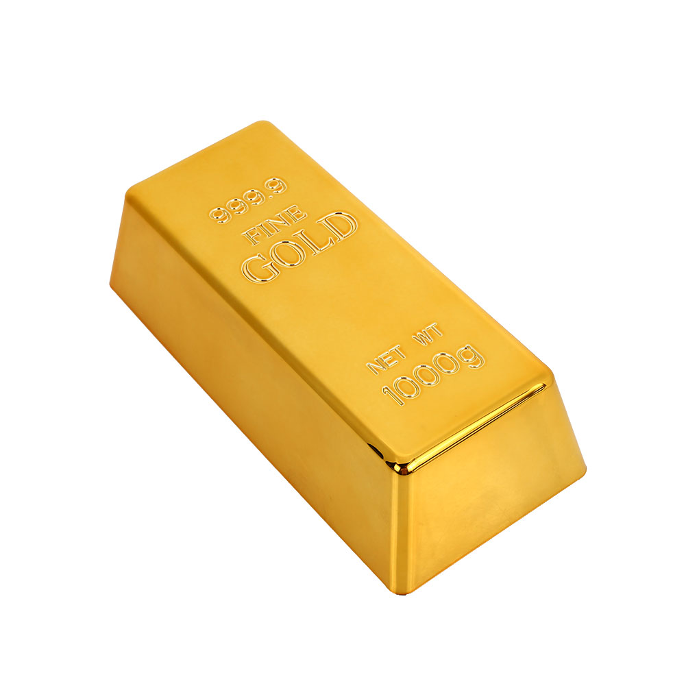 Solid Hollow Fake Gold Bar Paperweight