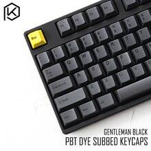 مجموعة أغطية مفاتيح صبغات صغيرة مطلية بالكرز بلاستيك PBT سميك أسود أصفر للرجال من أجل gh60 xd64 xd84 xd96 tada68 87 104 razer corsair