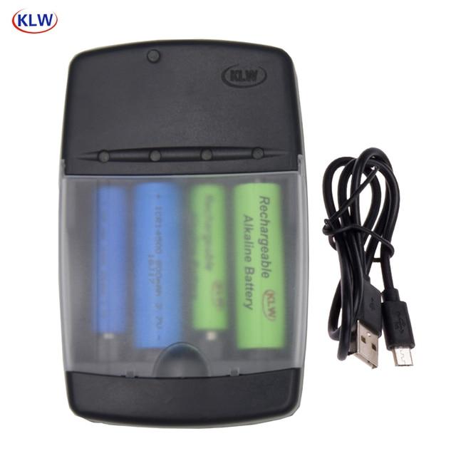Cargador de batería con pantalla LED de 4 ranuras, para pilas de litio alcalinas AA, AAA, AAAA, 1,5, 14500, 16340, 10440, 10340, 3,7 V