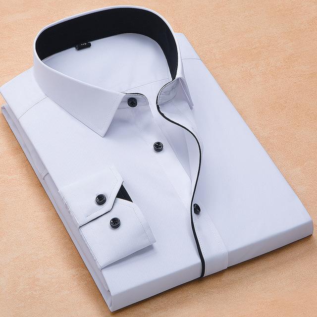 long sleeved solid business men dress shirts | online brands