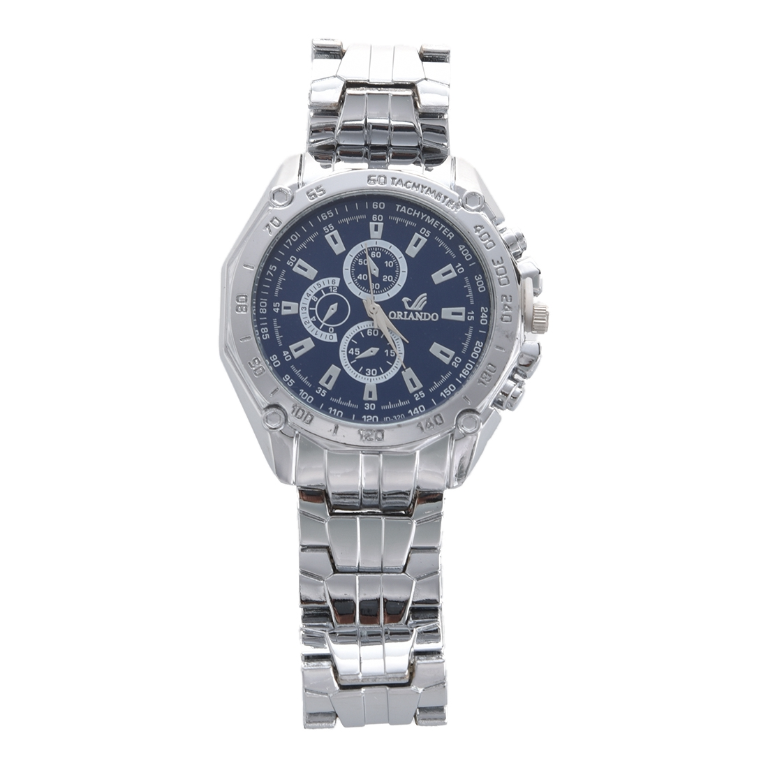 ORLANDO Men Hand Wrist Analogue Stainless Steel  Watch  (Blue)