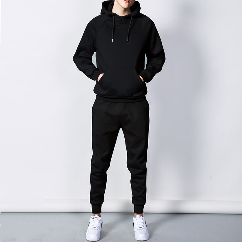 Three: Spring And Autumn Sports Suit Men With Padded Korean Edition Health Suit Student Running Sportswear